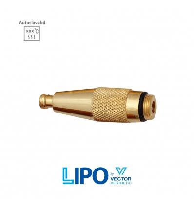 Adaptor canula cu filet la sistem luer lock